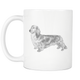 Long Haired Weenie Dog Mug - Long Haired Dachshund Mug - Great Gift For Long-haired Wiener Owner - Freedom Look