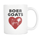 Boer Goat Heart Coffee Mug - Boer Goats Owner Gifts - I Like & Love My Goat Coffee Cup - Great Goat Gift For Men And Women (11 oz) - Freedom Look