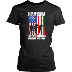 American Army With US Flag Military Soldier Together We Fight Unisex T-Shirt