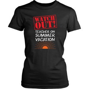Funny Teacher On Vacation Summer Holiday Travel Women & Unisex T-Shirt