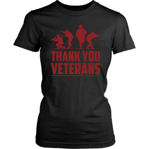 American US Army Military Veteran Brave Soldiers Thank You Unisex T-Shirt