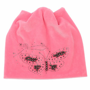 Butterfly Beanie Hat With Ear Flaps - Freedom Look