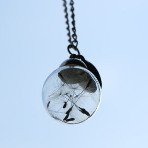 Glass Bottle Wish Necklace - Freedom Look
