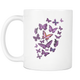 Purple Butterflies Mug (11 oz) - Freedom Look