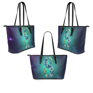 Infinity Large Leather Tote - Freedom Look