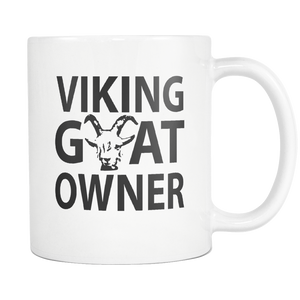 Viking Goats Owner Gifts - Viking Goat Coffee Mug - I Like & Love My Goats - Great Goat Gift For Men And Women (11 oz)