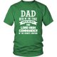 Funny Dad King Of Toilet Couch Commander Daddy Humorous Men T-Shirt