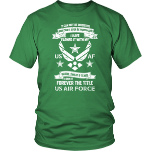 US Army Military Air Force USAF Veteran Mom & Dad Thank You Unisex T-Shirt