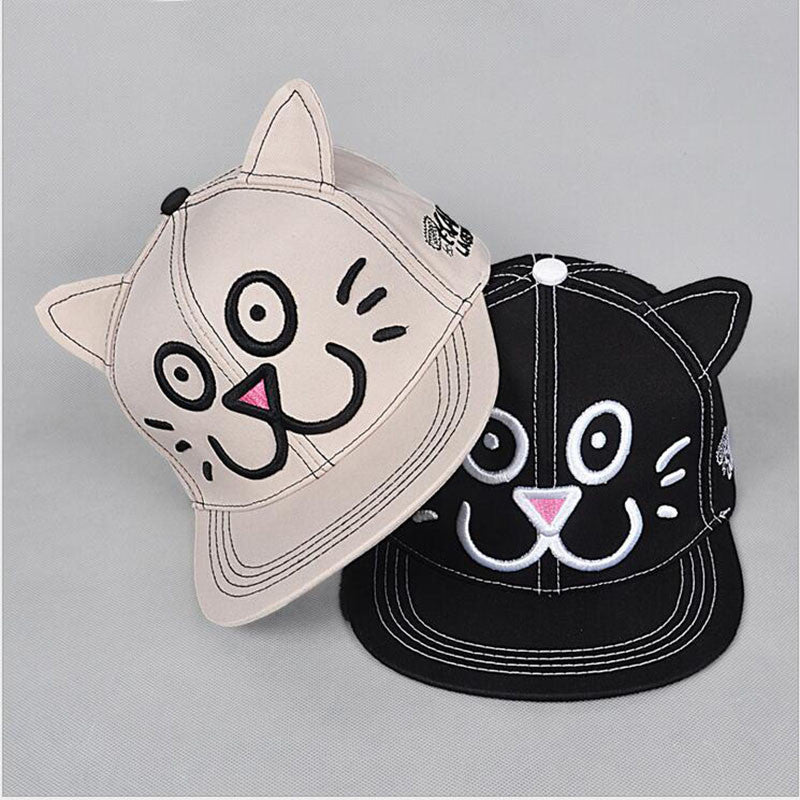 lovely cap with cat ears freedom look