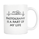 Photography Heartbeat Coffee Mug - Unique Gifts For Professional Photographer - Photography Related Gifts - Birthday Gift For Him Or Her - Photography Is Part Of My Life (11 oz)