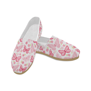 Pink Butterfly Casual Canvas Women's Shoes - Freedom Look
