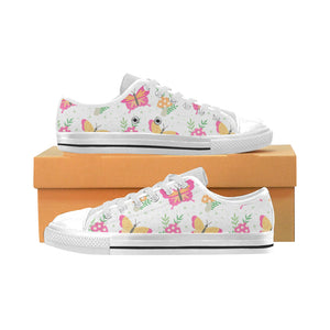 High & Low Top Canvas Women's Shoes - Lovely Butterflies - Freedom Look
