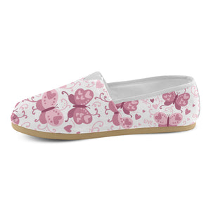 Pink Love Butterfly Casual Canvas Women's Shoes - Freedom Look