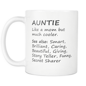 Aunt Definition Mug - Worlds Greatest Auntie - Sweetest Aunt Mug - Aunt Meaning Mug - Great Gift For Your Aunt - Freedom Look