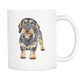 Wirehaired Dachshund Mug - I Am Proud To Have A Wire-haired Dachshund Dog Doxie Mom Grandma Mug - Great Gift For Dachshunds Owners