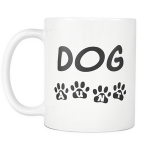 Best Dog Auntie Coffee Mug - Dog Aunt With Paws Mug - Greatest Auntie Ever - Great Gift For Aunt (11 oz) - Freedom Look