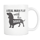 Doxie Dad Mug - Real Man Play With His Doxie - Great Gift For Doxie Owner - Freedom Look