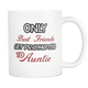 Only The Best Friends Get Promoted To Aunt Mug - Worlds Greatest Auntie - Great Gift For Your Best Friend, Who is Gonna Be Aunt (11 oz)