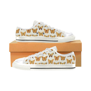 High & Low Top Canvas Women's Shoes - Monarch Butterfly Pattern - Freedom Look