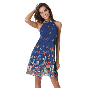 Sleeveless Butterfly Summer Dress
