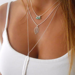Modern Multilayer Pendant Chain Neklace - Freedom Look