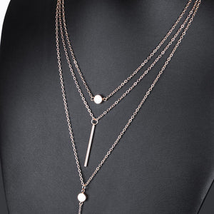Modern 3 Multi Layer Necklace - Freedom Look