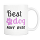 Best Dog Auntie Coffee Mug - Dog Aunt Mug - Greatest Auntie Ever - Great Gift For Aunt (11 oz) - Freedom Look