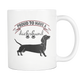 Mini Dachshund - Weiner Dog Mom Dad Grandpa Grandma Mug - Great Gift For Daschund Owner - Freedom Look