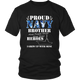 Proud US Navy Brother Army Camouflage Military Brave Soldiers Heroes T-Shirt