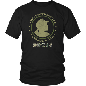 DD 214 US Army Military Veteran Brave Soldiers Thank You Women & Unisex T-Shirt