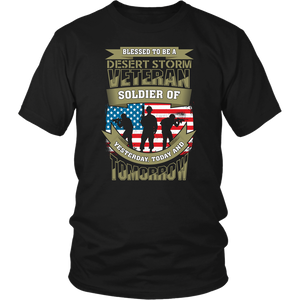 American Army US Army Flag Military Desert Storm Veteran Soldier Unisex T-Shirt