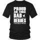 Proud US Army Military Air Force USAF Dad Brave Soldier Thank You Men T-Shirt