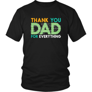 Thank You Dad With Kind Words - Father's Day Men Daughter & Son To Dad T-Shirt