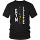 Gym Life Chakra Colors Fitness Aerobics Exercise Women & Unisex T-Shirt
