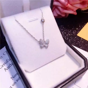 925 Sterling Silver Butterfly Pendant Necklace - Freedom Look