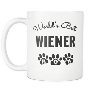 I Love My Wiener Mug - Little Wiener Mom - World's Best Mother - Great Gift For Dachshund Owner - Freedom Look