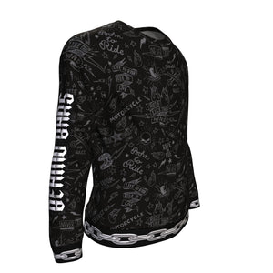Biker All-Over Sweatshirt - Freedom Look