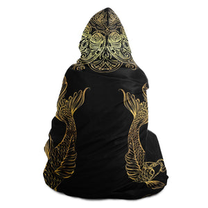 Pisces Mandala Hooded Blanket