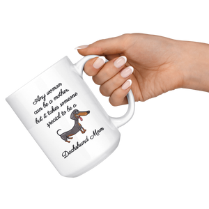 Dachshund Coffee Mug Set - Mom - Matching Dachshund Wiener Mugs - World's Best Mother - Great Gift For Couple Dachshund Owners (15 oz) - Freedom Look