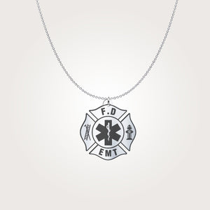 Firefighter Sterling Silver Necklace