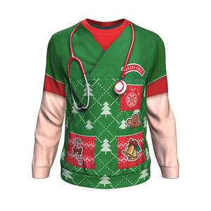 Don't Be Tachy Nurse Christmas Ugly Sweatshirt - Freedom Look