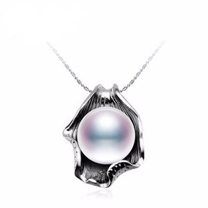 HQ Big Natural Pearl Pendant Necklace - Freedom Look