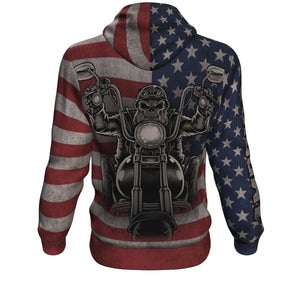 American Biker All-Over Hoodie - Freedom Look