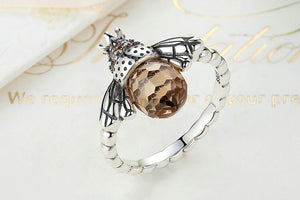 HQ Bee Finger Ring - 925 Sterling Silver - Freedom Look