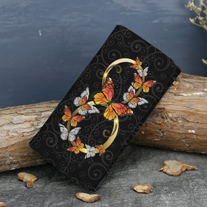 Butterfly Monarch Infinity Unique Wallet - Freedom Look