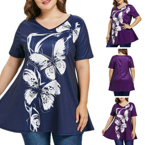 Butterfly V-neck Blouse - Freedom Look