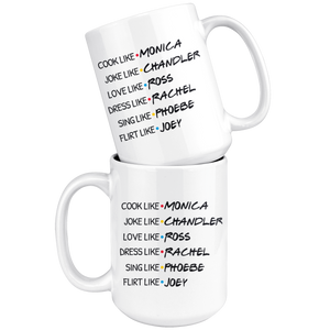 Friends Cast Monica, Chandler, Ross, Rachel, Phoebe, Joey Coffee Mug (15 oz)