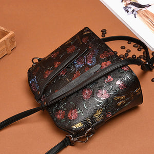Limited Design Type Butterfly Leather Purse - Freedom Look