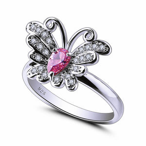 Butterfly Marquise Multicolor Purple & Pink Ring - Freedom Look