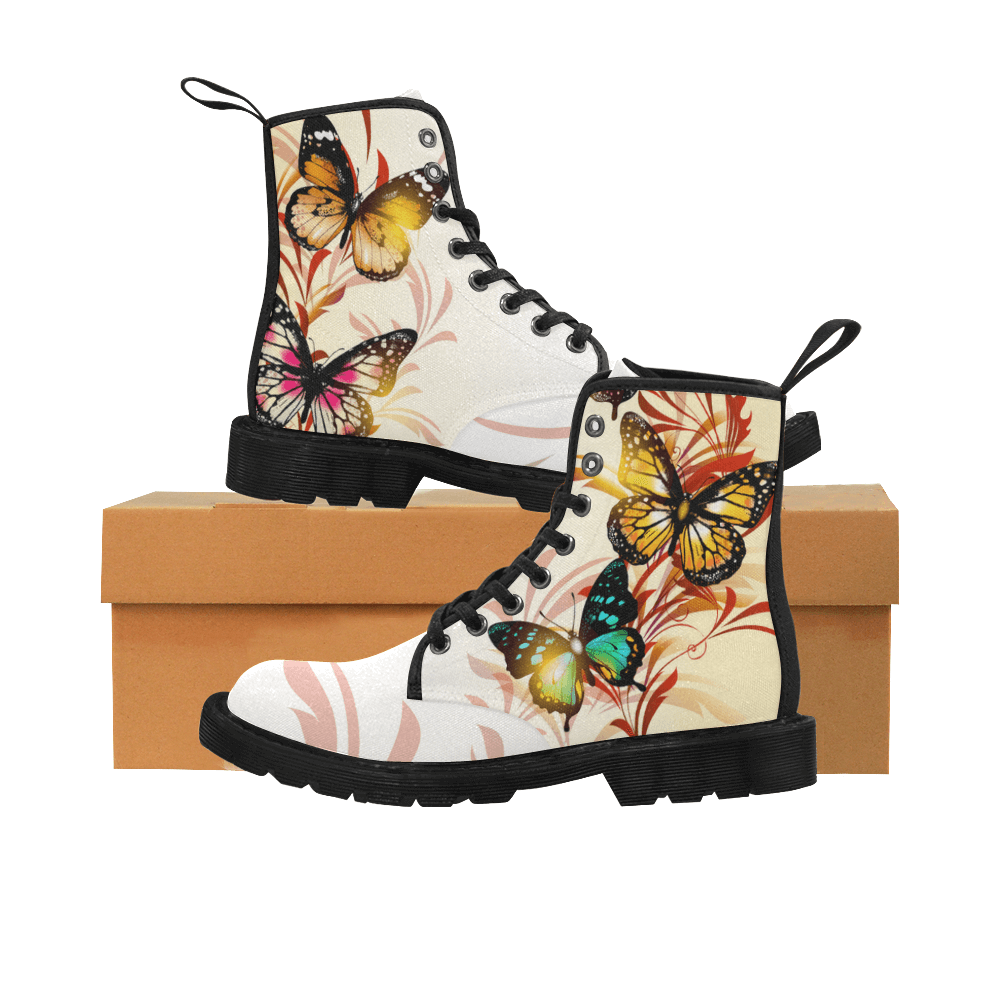 9a9100a55 Unique Butterfly Canvas Women s Boots – Freedom Look